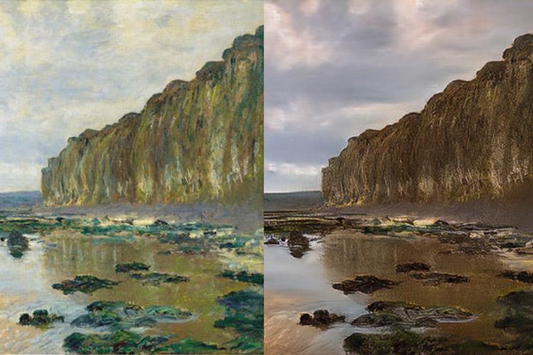 تصویر از توانایی تبدیل  نقاشی به عکس و تابستان به زمستان با کمک هوش مصنوعی