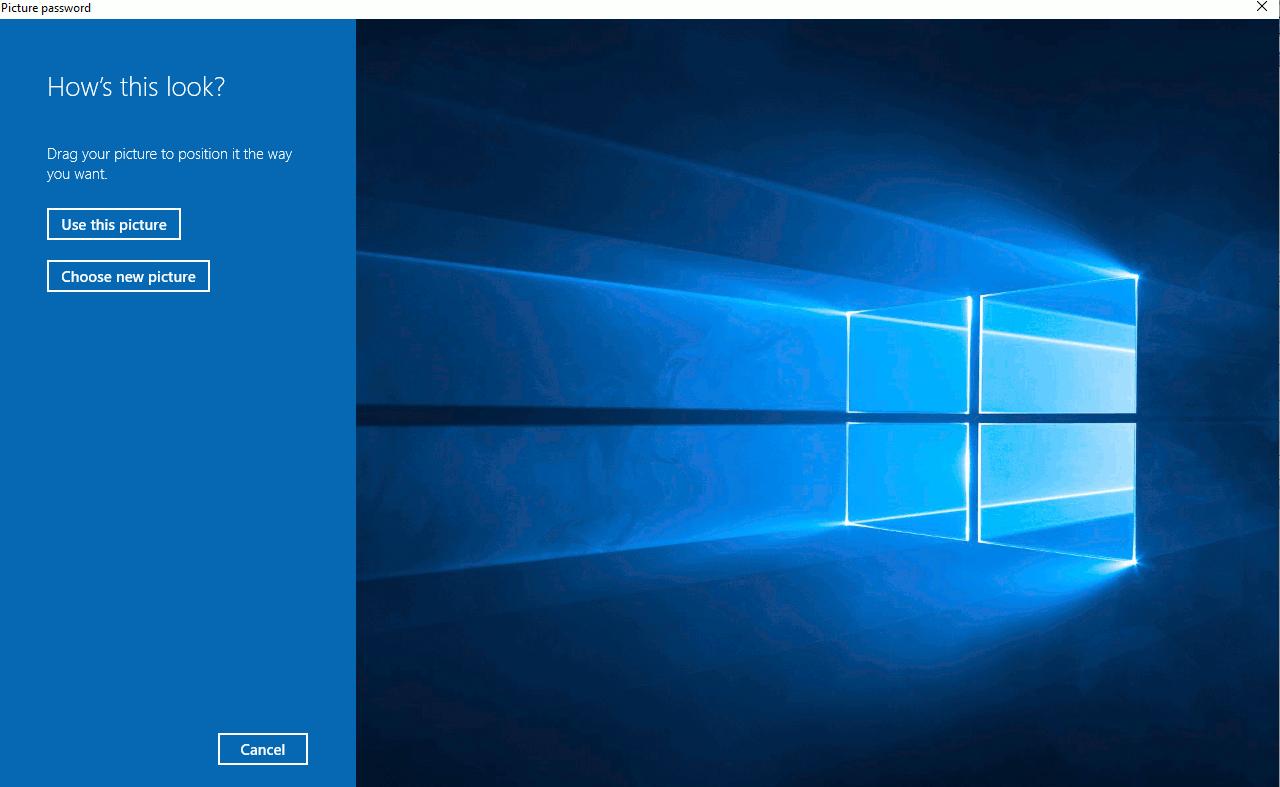 تصویر از رمز تصویری در ویندوز ۱۰